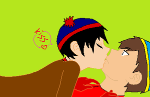 Art Trade: Stan X Cartman by sam-the-vampire