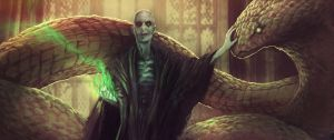 Voldermort and Nagini by Horologe