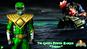 The Green Power Ranger and The Dragonzord by Theo-Kyp-Serenno