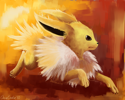Jolteon by OrcaCookie
