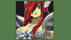 Erza Scarlet from Fairy Tail - Pixel art by loloasuna