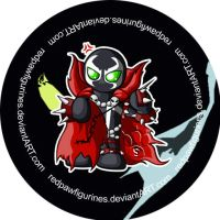 Spawn Chibi Badge by RedPawDesigns