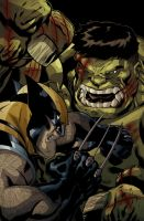 World War Hulk XmenJUST COLOUR by pernobassist