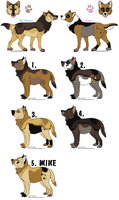 NoName X Lihim Breedable pups -CLOSED by MichelsAdoptions