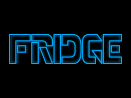 Fridge Tron Print by jkire