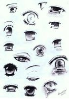 Manga Eye Sketches by annoKat