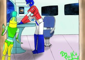 The_Ark_Optimus_Prime_and_Pchilka by PchilkaBlankPrime