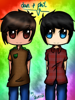 Dan and Phil by DawnRedd