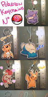 Pokemon Keychains 3 by Dragounette