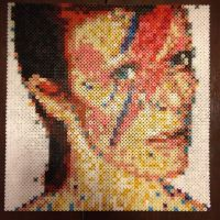 David Bowie in beads by MaryJaneee