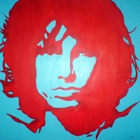 Jim morrison stencil 2 by purposemaker