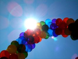 Sun, Sky, and Balloons by RaCzarina