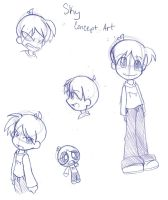 Chara Concept Sketches by Natsumi-chan0wolf