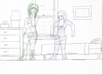 Comic Roughing out.... by psychowolf21