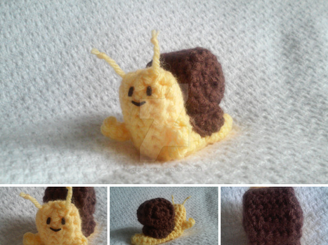 Amigurumi Adventure Time Snail by PerilousBard