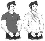 Reginald: With and Without Shirt by Inked-Alpha