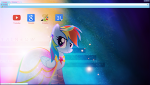 Rainbow Dash Gala Google Chrome Theme by bubblehun
