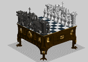 Royal Chess Set by TMcIsrael