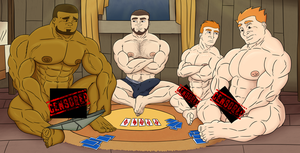 Strip Poker (censored) by EstevenQuintero