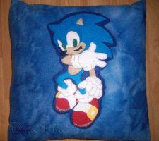 Sonic the Hedgehog Pillow by Ailin34