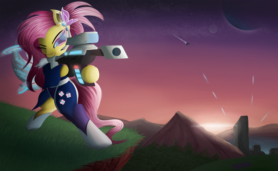 Freedom Fighter Fluttershy by Tyzain