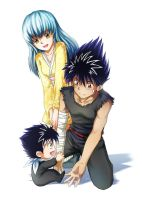 Hiei, Sakura, and Shonin by DomDozz