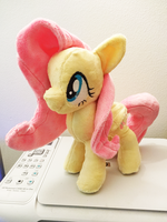 Fluttershy Plushie :Commission: by AppleDew