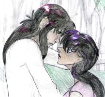 Kagome and Kurama by tomuchtime