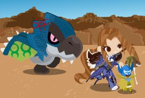 Capture a Azure Rathalos! by Berri-Blossom