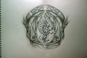 Sketch for the shoulder armor tattoo by TimHag