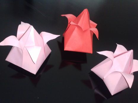 origami tulips for my beloved by vecseyadam1992