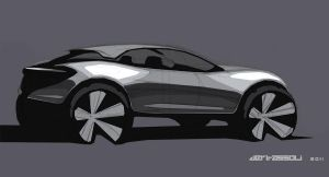 Pure SUV Concept hand sketch by VICDERT