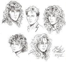 Def Leppard doodles by cozywelton