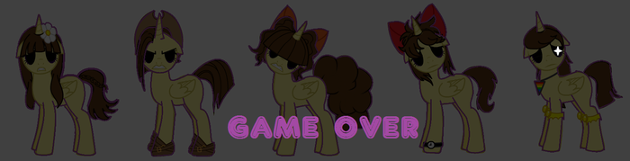 Game Over by ponyfancaptian