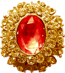 Gold Pendant - Ruby by Dori-Stock