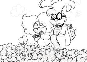 flowers and... roses? (WIP) by ladywig