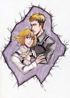 SNK Armin and Jean by MaryIL