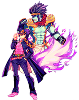 JJBA-Pixel by CaptainStrawberry