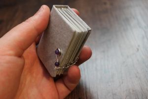 miniature book /with metal findings .side by izibel1