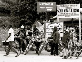 African Rebel Motorcycle by CunisiaInc