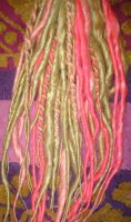 Blond and Pink Dreadlocks by Amazon-Butterfly