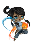 Legend of Korra Chibi by Ryouba-Blue