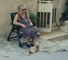 A lady with a dog by AnastasiaSia