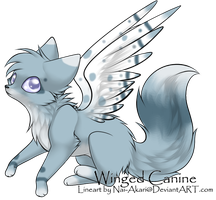 Winged Canine Adoptable 1 (Closed) by Bayflight