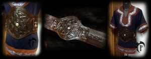 Viking tunic and armored belt :) by Feral-Workshop