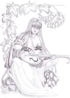 Commishion: Shintei-chan, bards song by Dracoria18