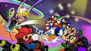 Miis bringing havoc to rainbow road by Joelchan