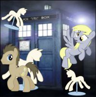 Doctor Whooves: Mannequin Attack by FuzzyyPanda