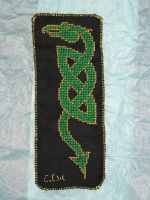 Celtic Earth Dragon Bookmark by reflection13