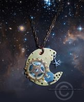 Clockwork Moon pendant by Aerindarkwater